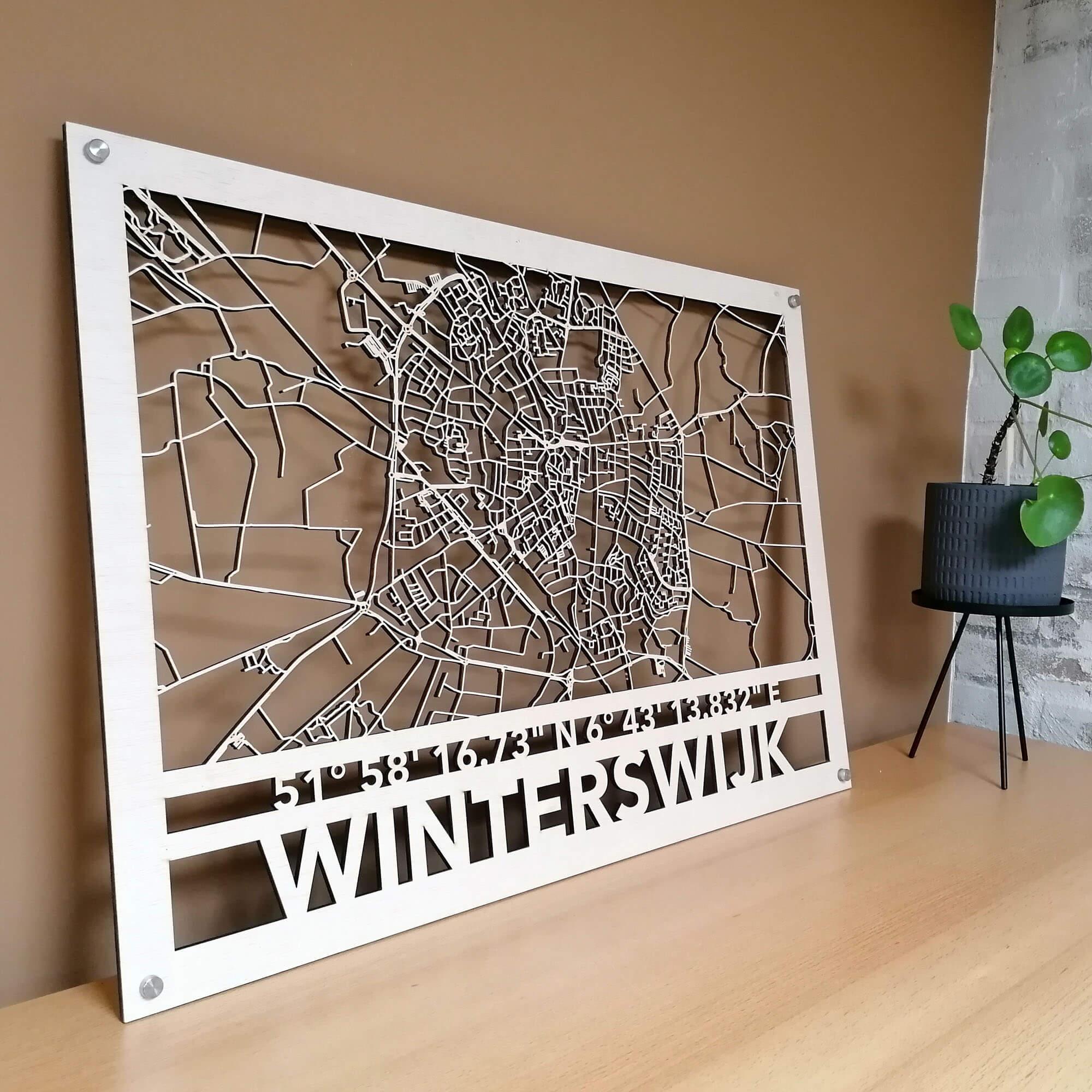 Houten map (Wooden city map)